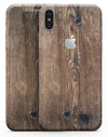 Horizontal Weathered Woodgrain - iPhone X Skin-Kit