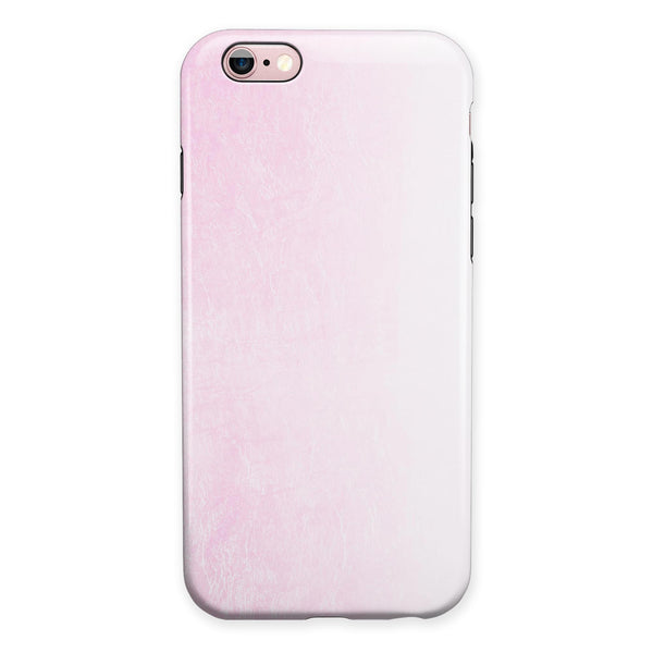 Hot Pink Fade to White  iPhone 6/6s or 6/6s Plus 2-Piece Hybrid INK-Fuzed Case