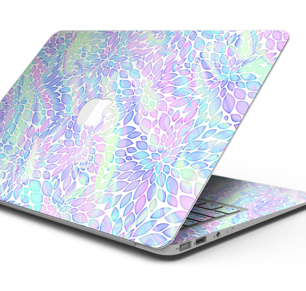 "Iridescent Dahlia v3 - Skin Decal Wrap Kit Compatible with the Apple MacBook Pro, Pro with Touch Bar or Air (11"", 12"", 13"", 15"" & 16"" - All Versions Available)"