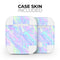 Iridescent Dahlia v1 - Full Body Skin Decal Wrap Kit for the Wireless Bluetooth Apple Airpods Pro, AirPods Gen 1 or Gen 2 with Wireless Charging