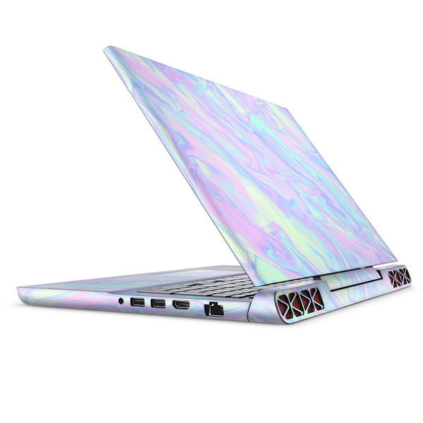 Iridescent Dahlia v1 - Full Body Skin Decal Wrap Kit for the Dell Inspiron 15 7000 Gaming Laptop (2017 Model)