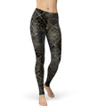 Karamfila Watercolor & Gold V9 - All Over Print Womens Leggings / Yoga or Workout Pants