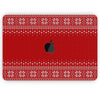 "Knitted Ugly Christmas Sweater V4 - Skin Decal Wrap Kit Compatible with the Apple MacBook Pro, Pro with Touch Bar or Air (11"", 12"", 13"", 15"" & 16"" - All Versions Available)"