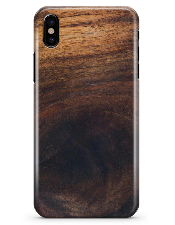 Knotted Rich Wood Plank - iPhone X Clipit Case