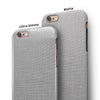 Light Gray Scratched Fabric Pattern iPhone 6/6s or 6/6s Plus 2-Piece Hybrid INK-Fuzed Case