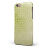 Light Green Grunge Micro Square Pattern iPhone 6/6s or 6/6s Plus 2-Piece Hybrid INK-Fuzed Case