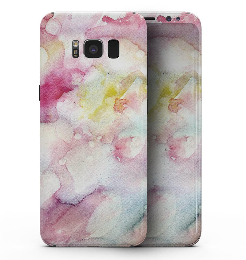 Light Pink 33 Absorbed Watercolor Texture - Samsung Galaxy S8 Full-Body Skin Kit