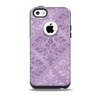 Light and Dark Purple Floral Delicate Design Skin for the iPhone 5c OtterBox Commuter Case