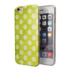 Lime Green and White Polkadots iPhone 6/6s or 6/6s Plus 2-Piece Hybrid INK-Fuzed Case