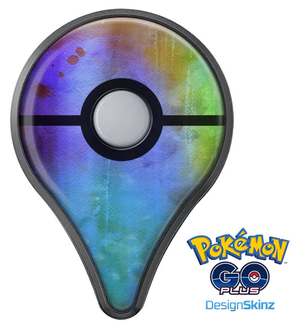 Lined 4453 Absorbed Watercolor Texture Pokémon GO Plus Vinyl Protective Decal Skin Kit