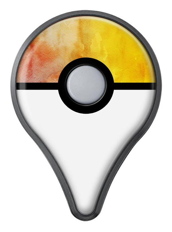 Lined Orange 1443 Absorbed Watercolor Texture Pokémon GO Plus Vinyl Protective Decal Skin Kit