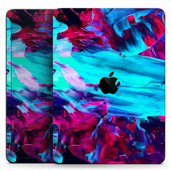 "Liquid Abstract Paint Remix V32 - Full Body Skin Decal for the Apple iPad Pro 12.9"", 11"", 10.5"", 9.7"", Air or Mini (All Models Available)"