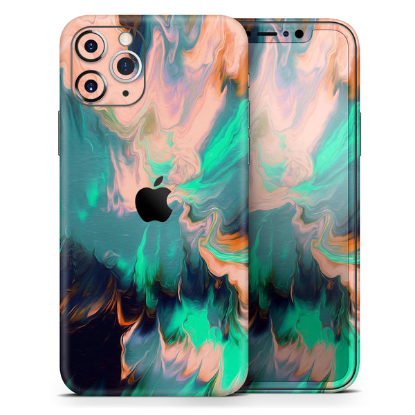Liquid Abstract Paint Remix V39 - Skin-Kit for the Apple iPhone 11, 11 Pro or 11 Pro Max