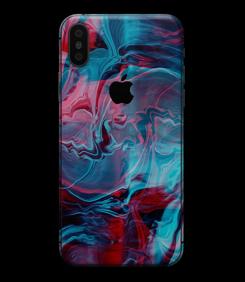 Liquid Abstract Paint Remix V42 - iPhone XS MAX, XS/X, 8/8+, 7/7+, 5/5S/SE Skin-Kit (All iPhones Available)