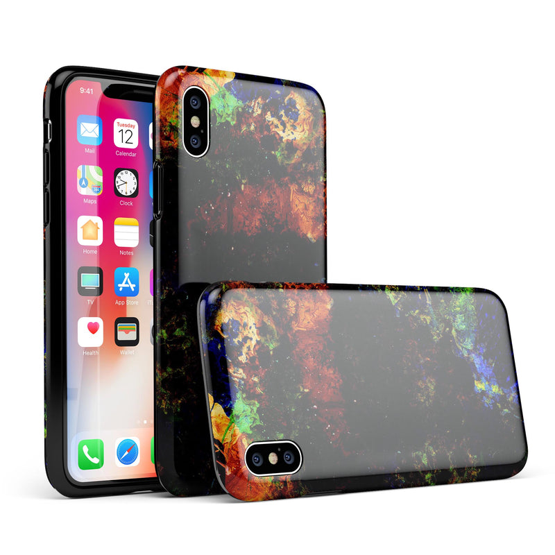 Liquid Abstract Paint Remix V53 - iPhone X Swappable Hybrid Case