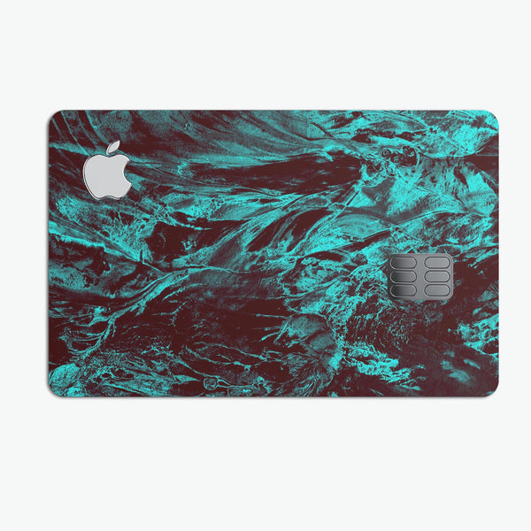 Liquid Abstract Paint Remix V85 - Premium Protective Decal Skin-Kit for the Apple Credit Card