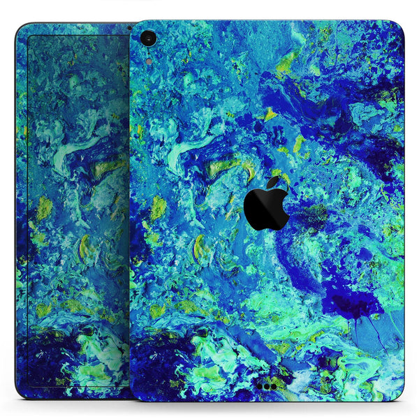 "Liquid Abstract Paint Remix V86 - Full Body Skin Decal for the Apple iPad Pro 12.9"", 11"", 10.5"", 9.7"", Air or Mini (All Models Available)"