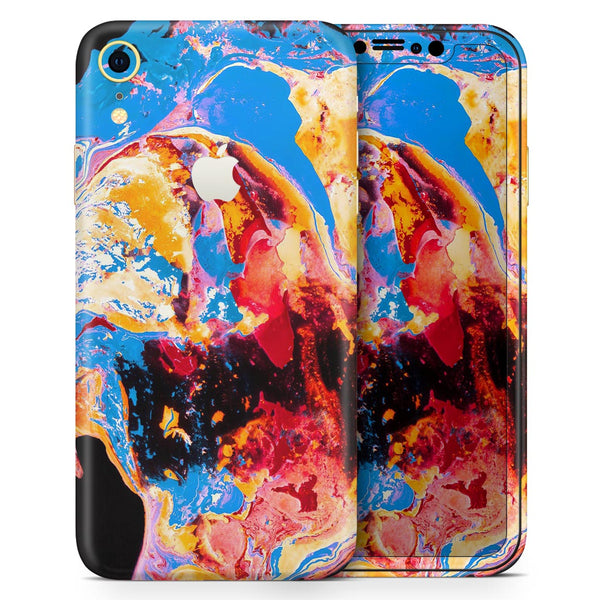 Liquid Abstract Paint V31 - Skin-Kit for the Apple iPhone XR, XS MAX, XS/X, 8/8+, 7/7+, 5/5S/SE (All iPhones Available)