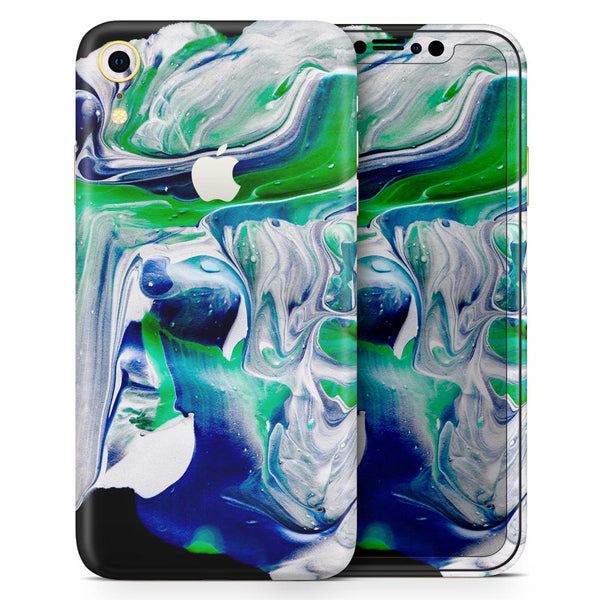 Liquid Abstract Paint V39 - Skin-Kit for the Apple iPhone XR, XS MAX, XS/X, 8/8+, 7/7+, 5/5S/SE (All iPhones Available)