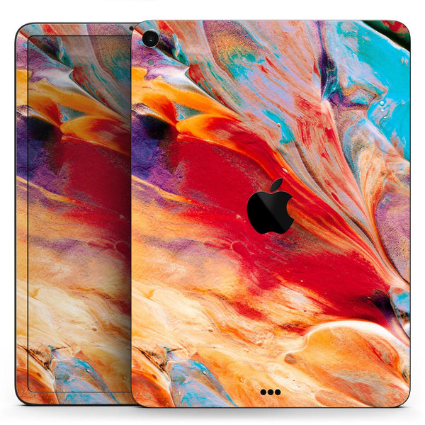 "Liquid Abstract Paint V50 - Full Body Skin Decal for the Apple iPad Pro 12.9"", 11"", 10.5"", 9.7"", Air or Mini (All Models Available)"