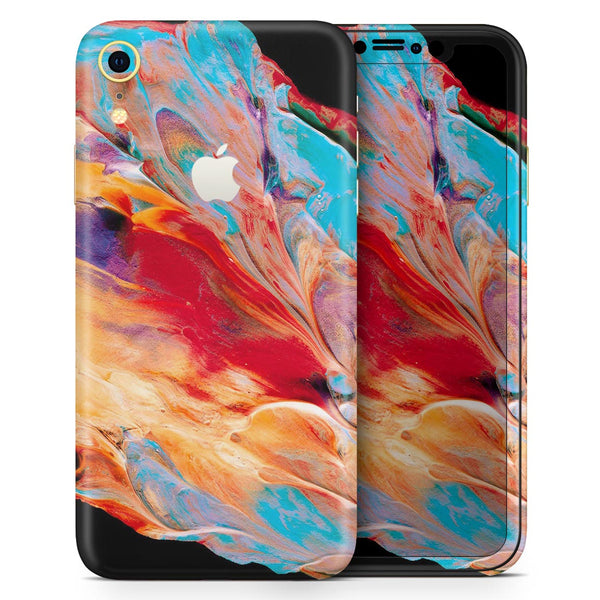 Liquid Abstract Paint V50 - Skin-Kit for the Apple iPhone XR, XS MAX, XS/X, 8/8+, 7/7+, 5/5S/SE (All iPhones Available)