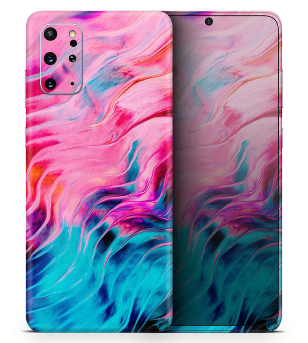 Liquid Abstract Paint V66 - Skin-Kit for the Samsung Galaxy S-Series S20, S20 Plus, S20 Ultra , S10 & others (All Galaxy Devices Available)