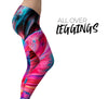 Liquid Abstract Paint V67 - All Over Print Womens Leggings / Yoga or Workout Pants