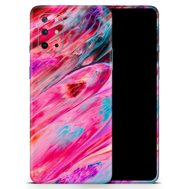 Liquid Abstract Paint V67 - Full Body Skin Decal Wrap Kit for OnePlus Phones