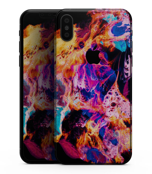 Liquid Abstract Paint V74 - iPhone XS MAX, XS/X, 8/8+, 7/7+, 5/5S/SE Skin-Kit (All iPhones Available)