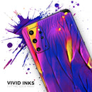 Liquid Abstract Paint V9 - Skin-Kit for the Samsung Galaxy S-Series S20, S20 Plus, S20 Ultra , S10 & others (All Galaxy Devices Available)