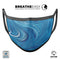 Liquid Blue Color Fusion - Made in USA Mouth Cover Unisex Anti-Dust Cotton Blend Reusable & Washable Face Mask with Adjustable Sizing for Adult or Child