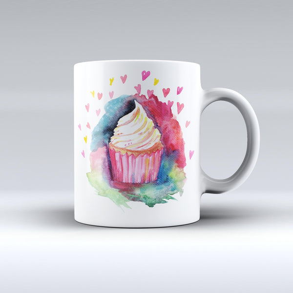 The-Love,-Cupcakes,-and-Watercolor-ink-fuzed-Ceramic-Coffee-Mug