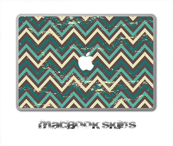Vintage Green Chevron V3 Skin for the 11, 13 or 15 inch MacBook
