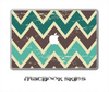 Vintage Green Chevron V2 Skin for the 11, 13 or 15 inch MacBook