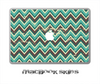 Vintage Green Chevron V1 Skin for the 11, 13 or 15 inch MacBook