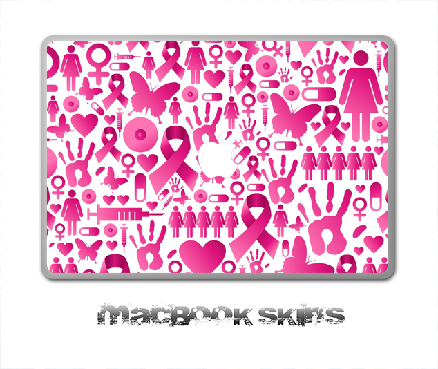 Breast Cancer Awareness V2 Skin for the 11, 13 or 15 inch MacBook