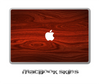 "Rich Red Wood V1 Skin for the 11"", 13"" or 15"" MacBook"