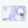 Marble & Digital Blue Frosted Foil V6 - Premium Protective Decal Skin-Kit for the Apple Credit Card