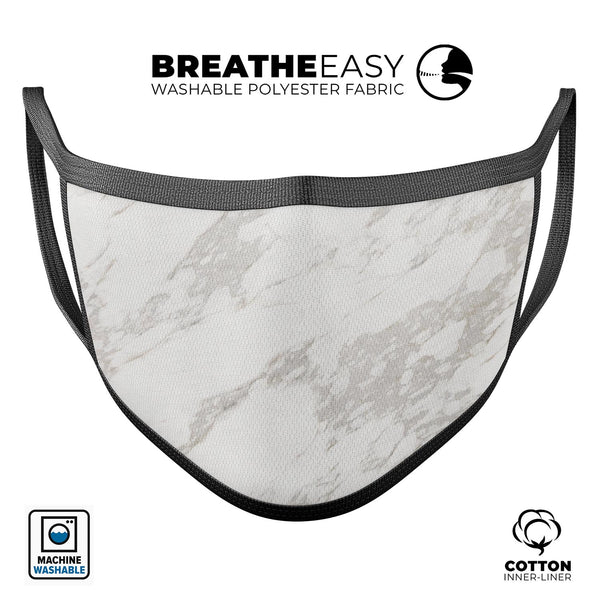 Marble Surface V3 - Made in USA Mouth Cover Unisex Anti-Dust Cotton Blend Reusable & Washable Face Mask with Adjustable Sizing for Adult or Child