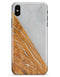 Marble & Wood Mix V2 - iPhone X Clipit Case