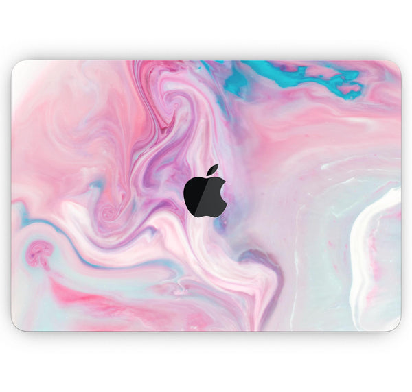 "Marbleized Color Paradise V2 - Skin Decal Wrap Kit Compatible with the Apple MacBook Pro, Pro with Touch Bar or Air (11"", 12"", 13"", 15"" & 16"" - All Versions Available)"
