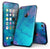 Marbleized Ocean Blue - 4-Piece Skin Kit for the iPhone 7 or 7 Plus