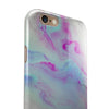Marbleized Paradise V072 iPhone 6/6s or 6/6s Plus 2-Piece Hybrid INK-Fuzed Case
