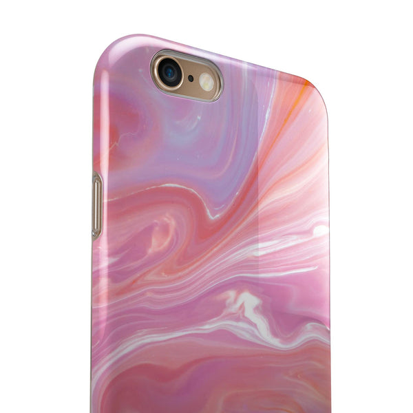 Marbleized Pink Paradise iPhone 6/6s or 6/6s Plus 2-Piece Hybrid INK-Fuzed Case