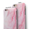 Marbleized Pink Paradise V4 iPhone 6/6s or 6/6s Plus 2-Piece Hybrid INK-Fuzed Case
