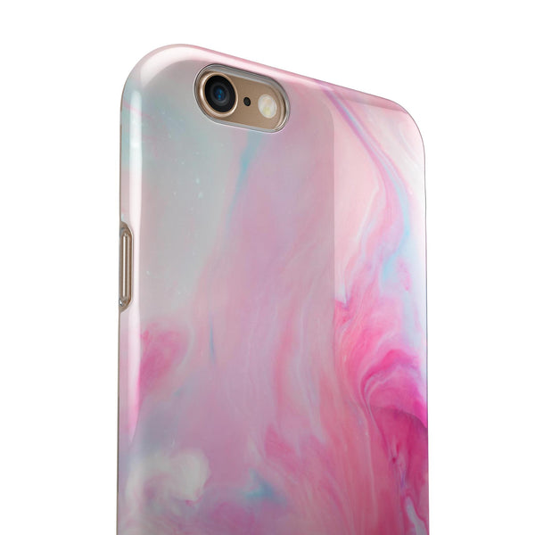 Marbleized Pink Paradise V5 iPhone 6/6s or 6/6s Plus 2-Piece Hybrid INK-Fuzed Case