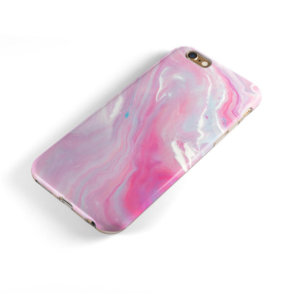 Marbleized Pink Paradise V8 iPhone 6/6s or 6/6s Plus 2-Piece Hybrid INK-Fuzed Case