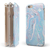 Marbleized Pink and Blue Soft v3 iPhone 6/6s or 6/6s Plus 2-Piece Hybrid INK-Fuzed Case