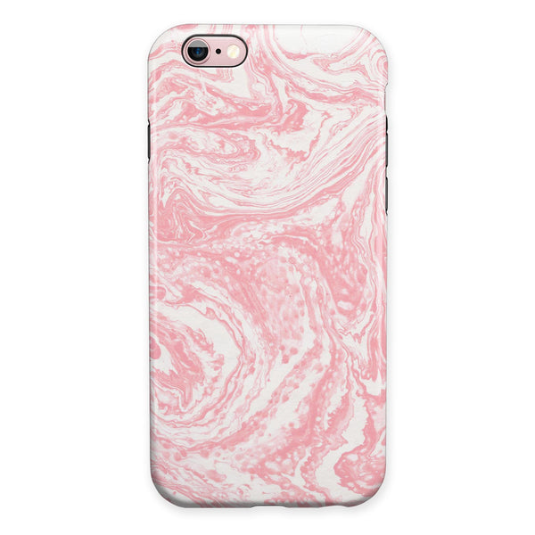 Marbleized Pink v3 iPhone 6/6s or 6/6s Plus 2-Piece Hybrid INK-Fuzed Case