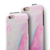 Marbleized Soft Pink iPhone 6/6s or 6/6s Plus 2-Piece Hybrid INK-Fuzed Case